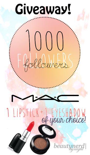 Beauty Nerd By Night, a Malaysian Beauty Blog: 1000 Followers Giveaway   M.A.C Cosmetics - International