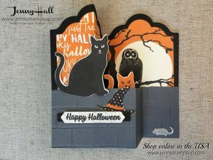 Halloween double z fold box card by Jenny Hall at www.jennystampsup.com