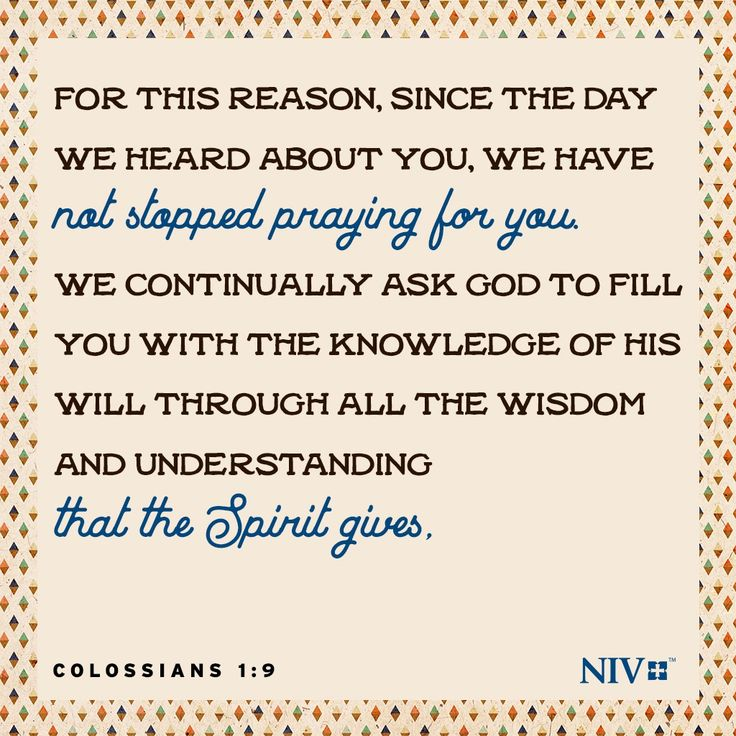 433 best bible verses images on pinterest bible verses niv verse of the day colossians 19 negle Choice Image