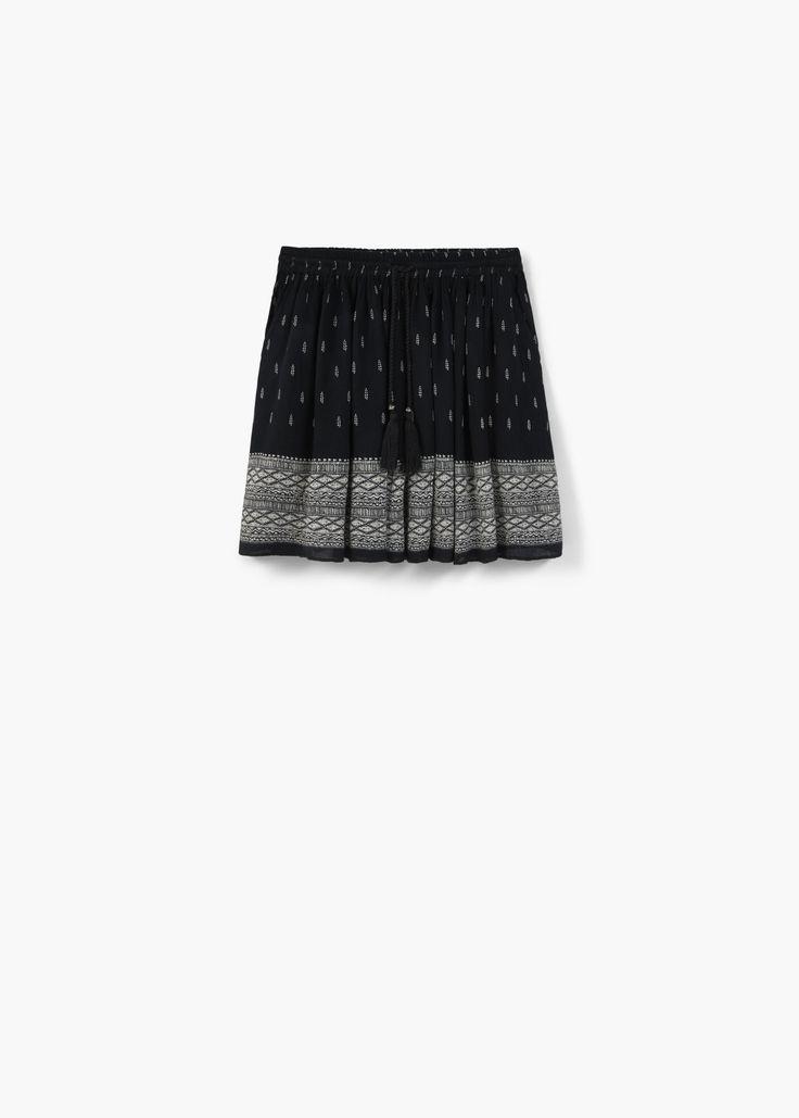 Falda fluida estampada - Faldas de Mujer | MANGO España
