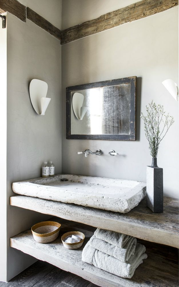 25 best ideas about stone sink on pinterest earthy bathroom natural modern bathrooms and - Chic renovation design ideas with rustic exterior and modern interior ...