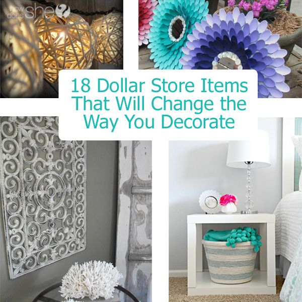 Decorate with Dollar Store Items
