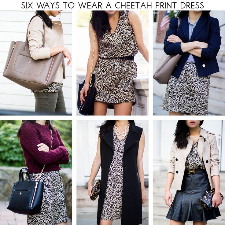 6 Ways to Wear the Ann Taylor Cheetah Print Dress l Fast Food and Fast Fashion