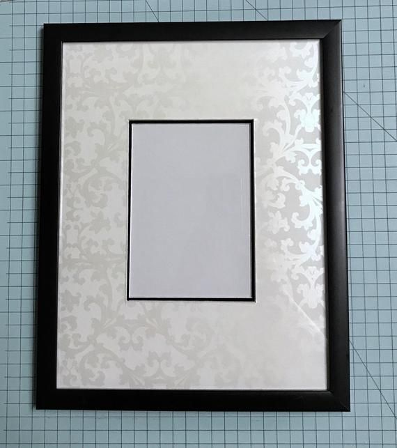 White Baroque Etsy Frame Photo Matting Photo Frame