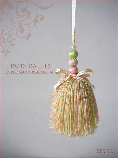 バレエの衣装をイメージして・・  SPOOL・上海タッセルレッスン