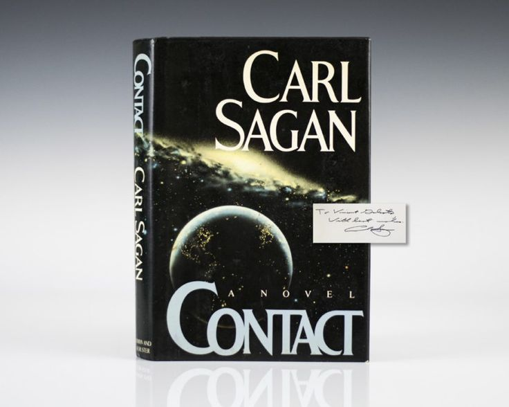 First Edition of Carl Sagan's Contact; Inscribed by him