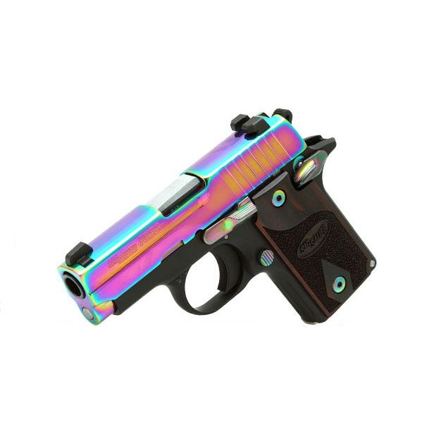 Sig Sauer P238 Rainbow Titanium Finish .380ACP Pistol w/ SIGLITE Night Sights - Rockwell Arms
