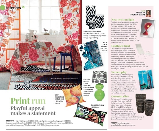 Can you spot White Coconut's cushion in Brisbane News? *HINT - think vibrant coral reef prints! http://www.whitecoconut.com.au/ #brisbanenews #whitecoconut #homewares #coral #reef #cushions #print #liquiditymarketing