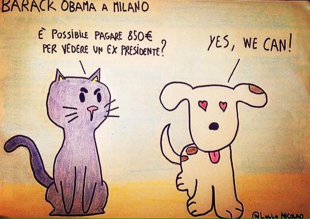 Barack Obama in visita in Italia a Milano.