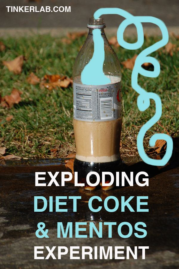 Silly Science fun with the Exploding Diet Coke and Mentos Experiment