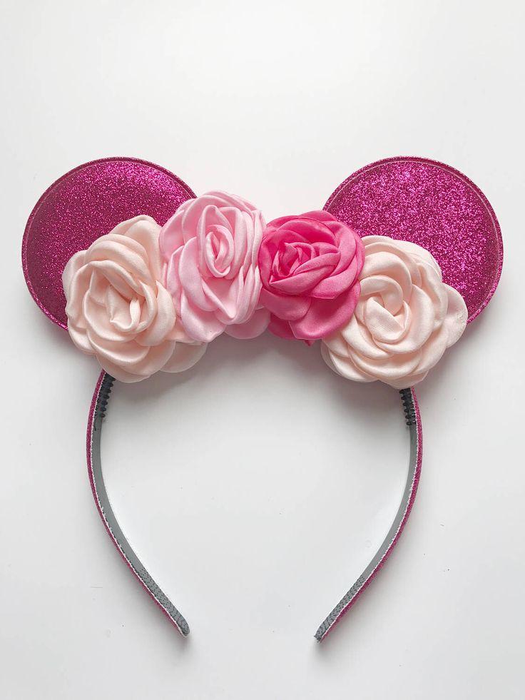 minnie mouse ears, minnie mouse halloween, disney headband, minnie mouse headband, minnie mouse halloween headband, minnie mouse glitter ears, minnie mouse diy ears, disney trip , pink minnie mouse ears, girly minnie ears, minnie ears,