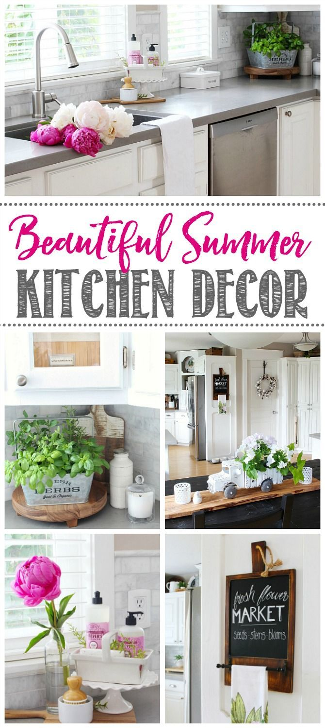 Summer Kitchen Decorating Ideas And Summer Home Tour Summer