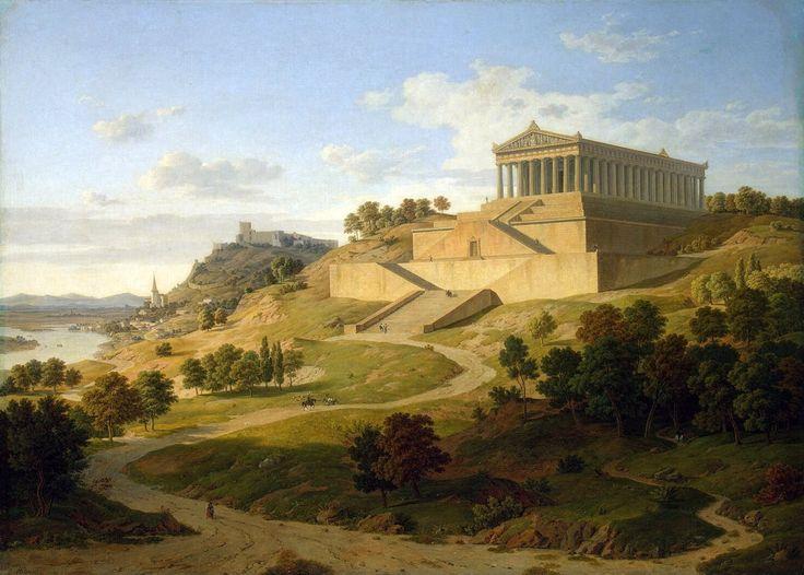 View Valhalla at Regensburg 1836, Leo von Klenze (1784-1864)