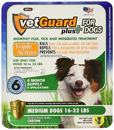 VetGuard Plus Flea & Tick Treatment for Medium Dogs, 16-33 lbs, 6 Month Supply - http://www.bunnybits.org/vetguard-plus-flea-tick-treatment-for-medium-dogs-16-33-lbs-6-month-supply/