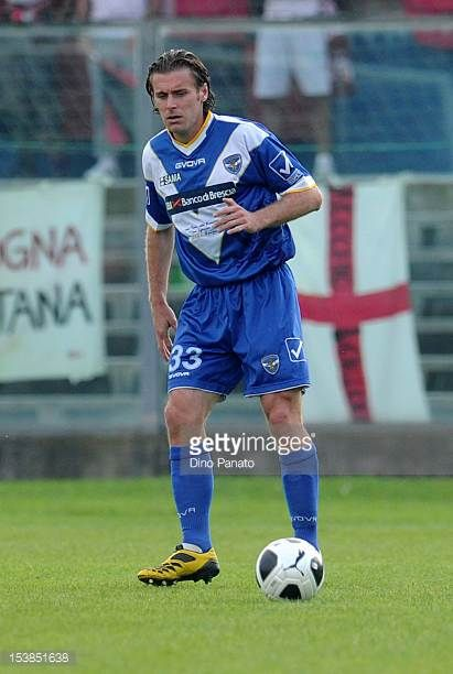 Lorenzo Stovini of Brescia in action during the Serie B match between Brescia and Virtus Lanciano at Mario Rigamonti Stadium on October 6 2012 in...