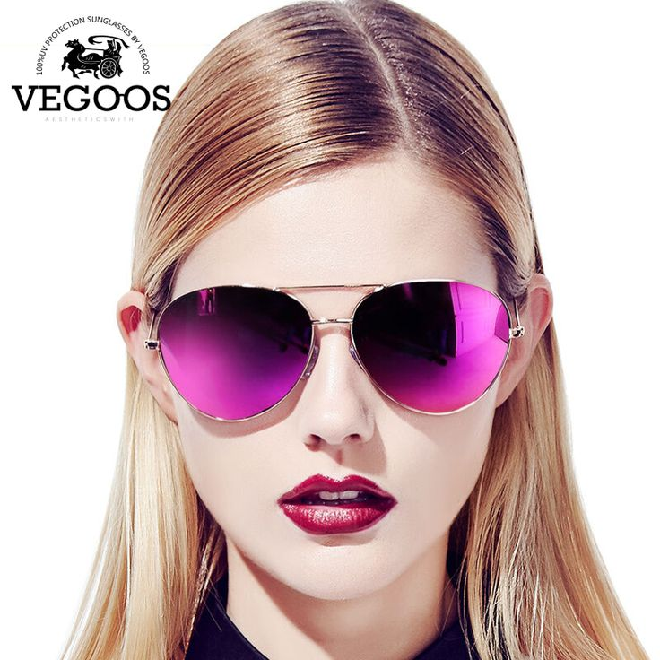 VEGOOS Real Polarized Men & Women Sunglasses Aviation Flash Mirrored Lens UV Protection Eyewear Female Pilots Sun Glasses #3025V