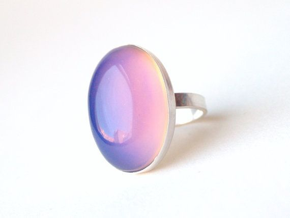 A Giant Mood Ring set in Sterling... An awesome modern update to a childhood favorite! By Proteales