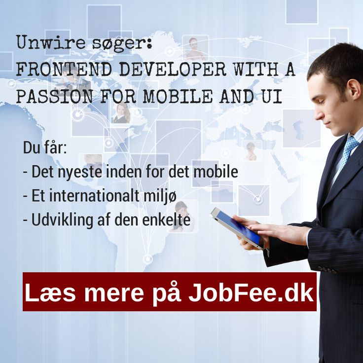 Unwire søger Frontend Developer with passion for mobile and ui http://jobfee.dk/ledige-jobs/2014/01/frontend-developer-with-a-passion-for-mobile-and-ui/