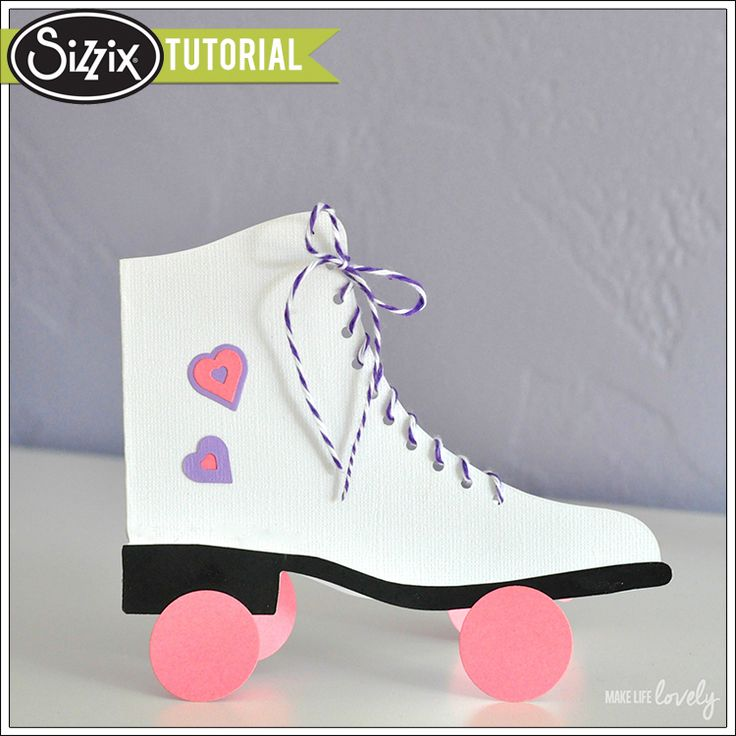 Sizzix Tutorial   Roller Skates Card by Laura Russell
