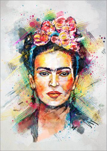 Premium-Poster Frida Flower Pop – Posterlounge