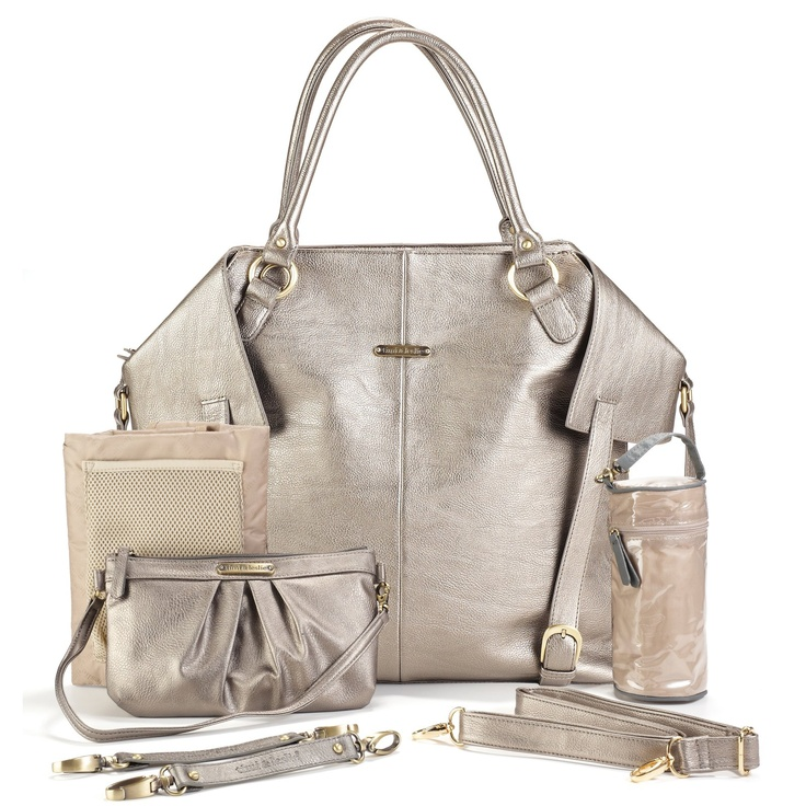 Timi and Leslie Charlie Tote Diaper Bag - Pewter