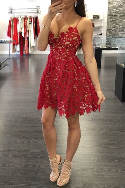 2016 New Self Portrait Handmade White/Red Sexy Flower Lace Dress Runway Elegant Dresses Hollow Out the Dress Shoulder Straps-in Dresses from Women's Clothing & Accessories on Aliexpress.com | Alibaba Group