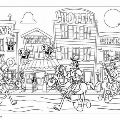 Simple Western Coloring Books