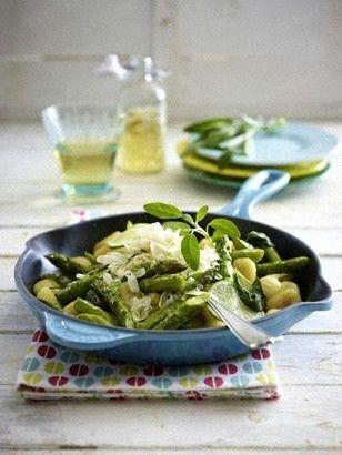Gebratener grüner Spargel mit Gnocchi Rezept