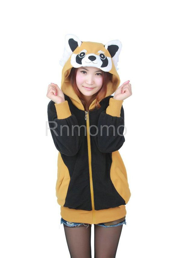 Red panda hoodie Cosplay Charactor animal Hooded hoody ...