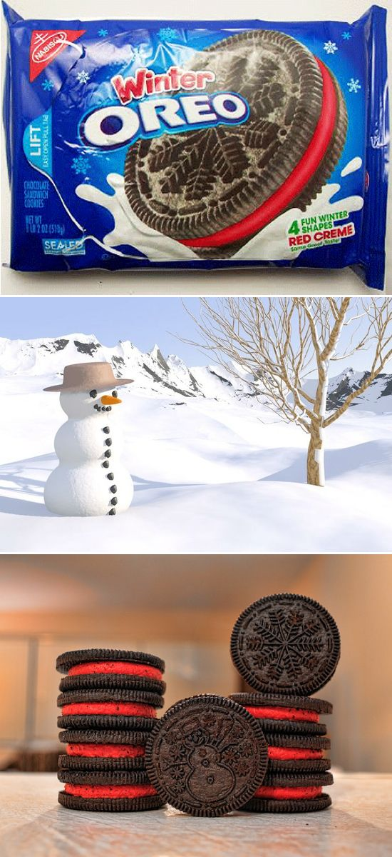 WINTER oreos? Definatley intrigued by these ones  MUST HAVE