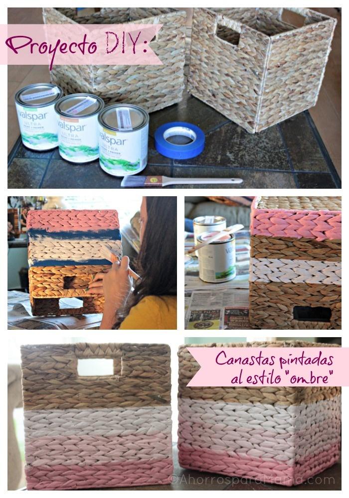 Decorar cestas y cestos de mimbre manualidades - Decorar cestas de mimbre paso a paso ...