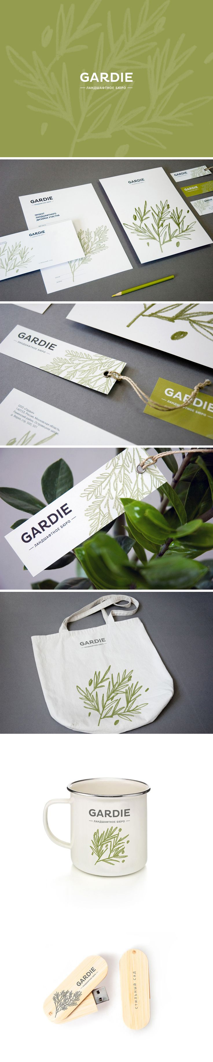 visual identity / gardie | repinned by www.BlickeDeeler.de | Have a look on www.LogoGestaltung-Hamburg.de