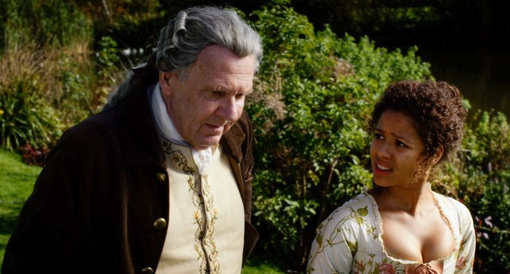 """An aristocrat (Tom Wilkinson) raises his mixed-race niece (Gugu Mbatha-Raw) in """"Belle."""""""