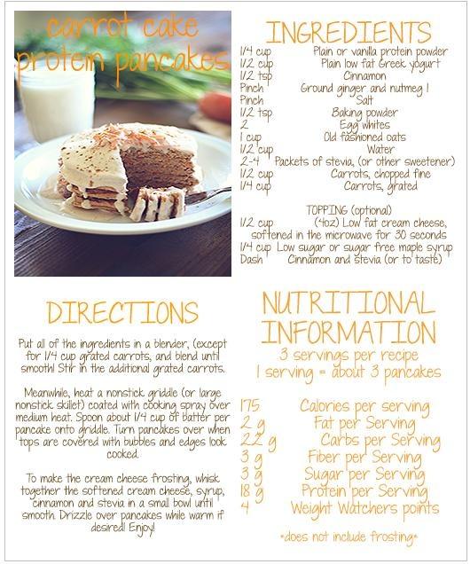 Carrot Cake Protein Pancakes | Yummy! | Pinterest