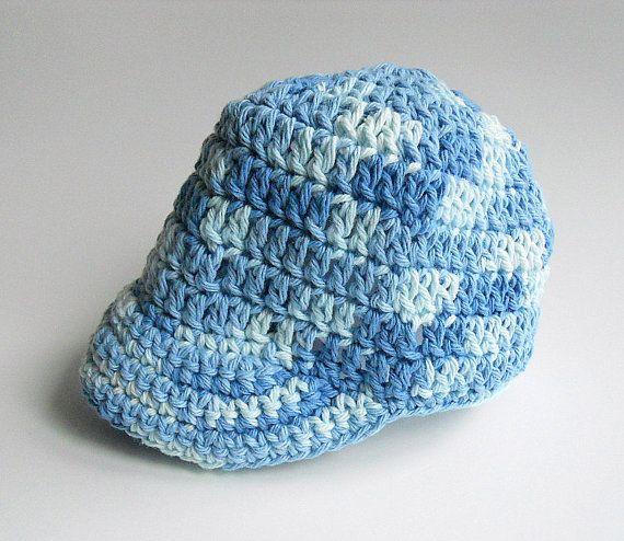 Free Crochet Pattern Baby Baseball Cap : Blue Baby Baseball Cap Boy Cotton Cap Infant Girl Summer ...