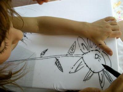 abito, disegno con pennarello