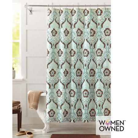 Better Homes And Gardens Newcastle Shower Curtain Blue Brown