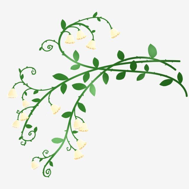 Green Flower Vine Cartoon Illustration Flower Vine Illustration Flower Vine Squid Flower F Flowering Vines Cartoon Illustration Spring Flowers Background
