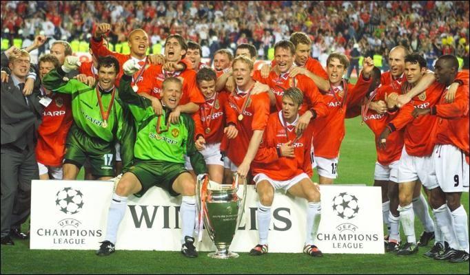 Le 26 mai 1999, c'est la consécration pour le numéro 7. Il gagne la seule Ligue de Champions de sa carrière face au Bayern Munich. Après avoir été mené pendant 83 minutes, David Beckham délivre les deux passes décisives qui donneront la victoire à Manchester (2-1). Certainement la saison la plus accomplie de sa carrière, où il remporte également le championnat et la coupe d'Angleterre. Il terminera à la deuxième place du Ballon d'Or à la fin de l'année 1999, son meilleur classement.