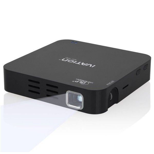 Ivation Portable Rechargeable HDMI Projector for Movies, Presentations, Photo Sharing & More