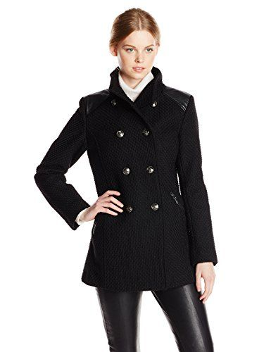 Kensie Women's Double Breasted Wool Military Coat   FALL & WINTER ...