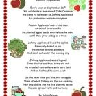 This is a fun poem about John Chapman or Johnny Appleseed.  Poem can used to tie in with units on apples, Johnny Appleseed or  poetry     Being tha...