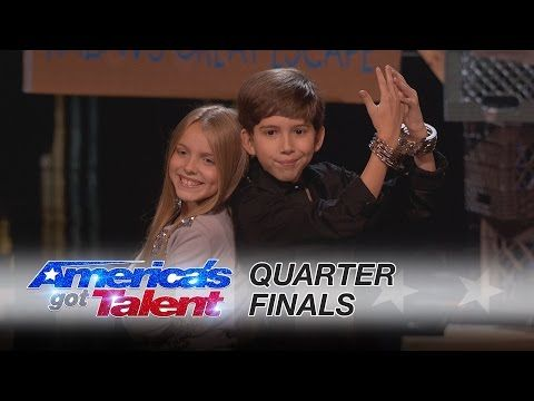 Kadan Bart Rockett: Magician's Little Sister Gets Revenge With Chainsaws - America's Got Talent 2016 - YouTube