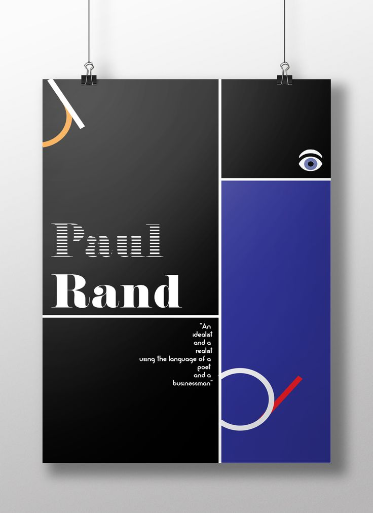 Paul Rand poster by KikaCreative