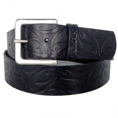 Koru Design Leather Belt by Kia Kaha