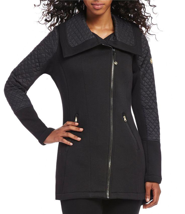 MICHAEL Michael Kors Shawl Collar Asymmetrical Zip Quilted Coat #Dillards