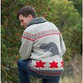 Adult Beaver Jacket pattern by Mary Maxim