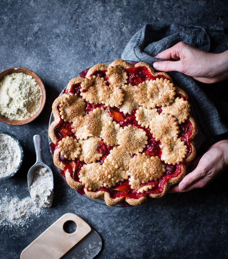 Strawberry Raspberry Rhubarb Pie, Alternative Baker Cookbook