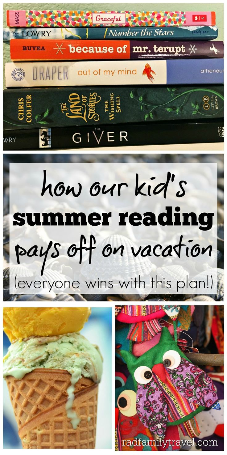 Best ideas for family road trips & summer reading, souvenirs & sweets. Help your kids read more & have vacation cash in their wallet with these simple tips & plan! Top picks reading list by tweens & teens included. Great summer reading incentives!