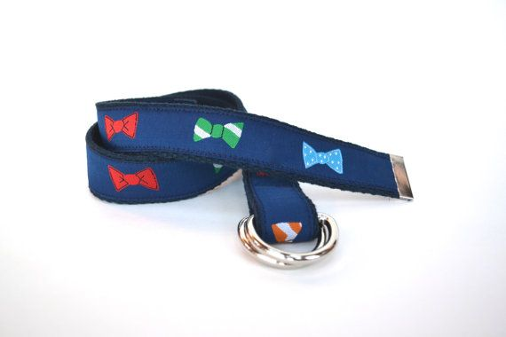 Baby Bow Tie Belt Boy Belt Child Belt Adjustable by BrimmerBaby